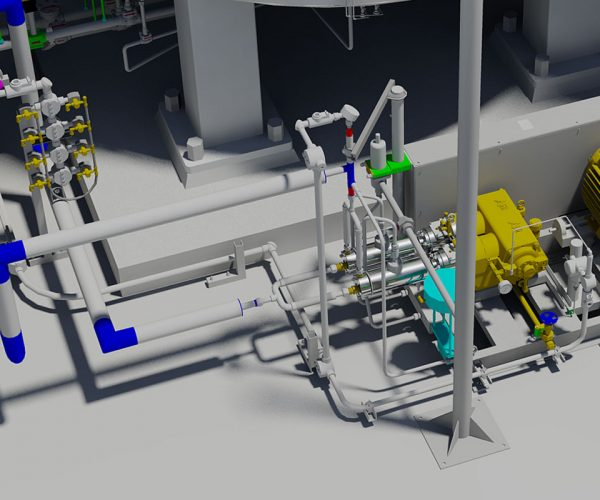 Single CNG/LNG Pump Skid