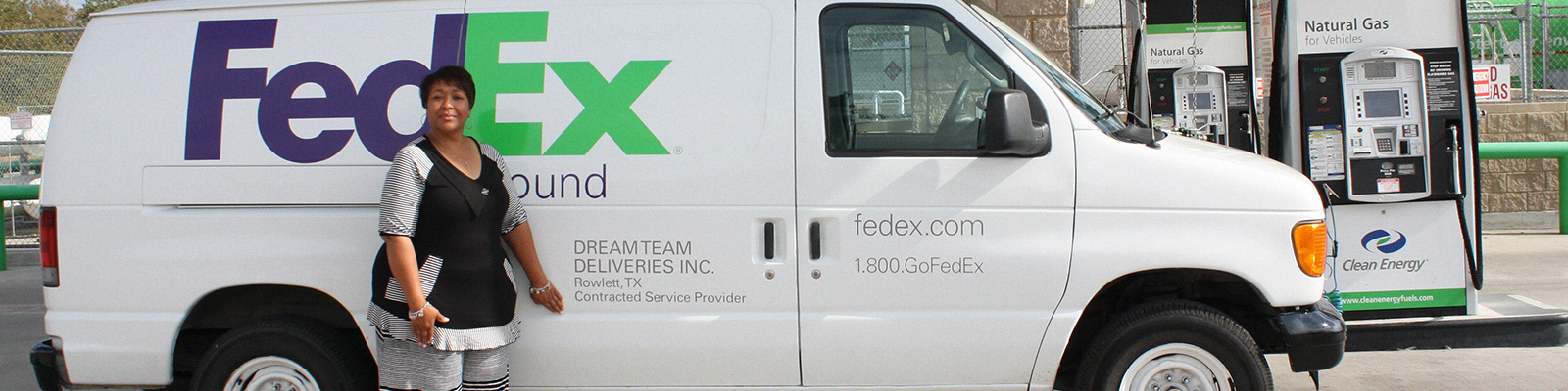 fedex ground service provider delivers dreams with cng clean energy fuels