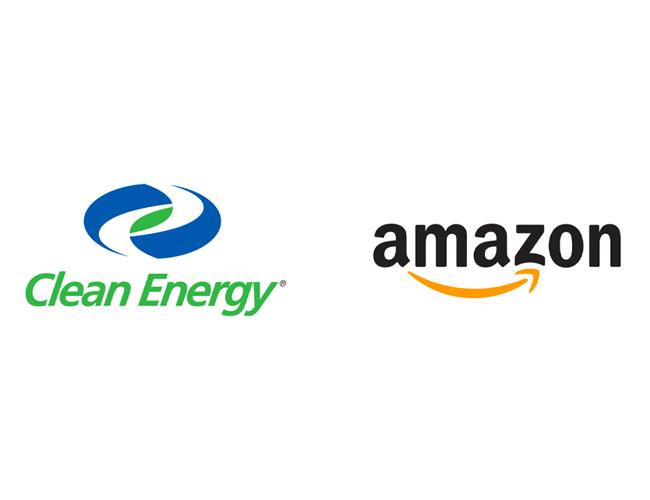 Amazon and Clean Energy Logos